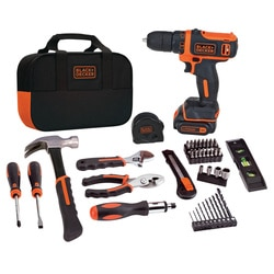 Black and Decker - 12V MAX Lithium Ion DrillDriver  59 Piece Project Kit - BDCDD12PK