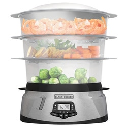 Black And Decker - 3 Tier Programmable Food Steamer - HS2893SD