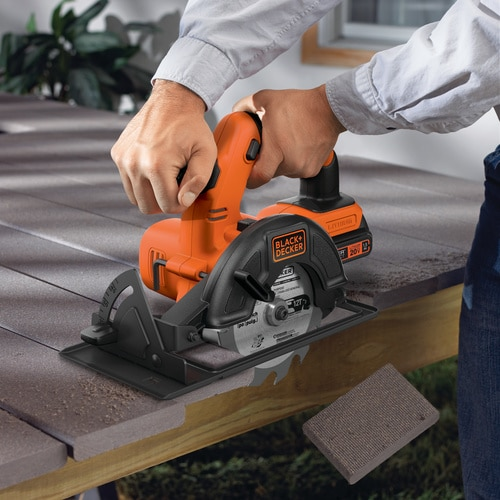 Black and Decker - 20V MAX Lithium Ion 4 Tool Combo Kit DrillDriver Circular Saw Reciprocating Saw and Work Light - BD4KITCDCRL