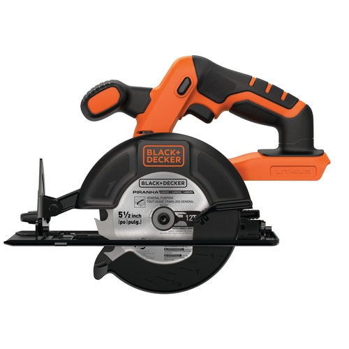 Black and Decker - 20V MAX 512 in Circular Saw  Battery and Charger Not Included - BDCCS20B