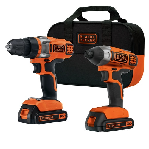 Black and Decker - 20V MAX Lithium Ion DrillDriver  Impact Driver Combo Kit - BDCD220IA