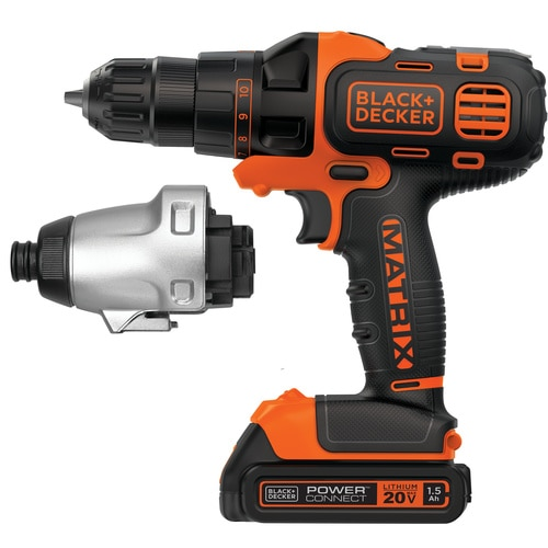 Black and Decker - MATRIX 20V MAX Lithium Ion DrillDriver  Impact Driver Combo Kit - BDCDMT120IA