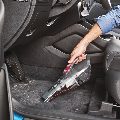 Black and Decker - dustbuster QuickClean Car Cordless Hand Vacuum With Motorized Upholstery Brush - HLVB315JA26