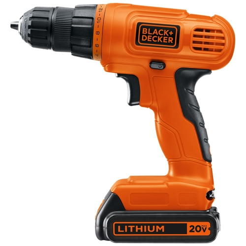 Black and Decker - 20V MAX Lithium DrillDriver with 30 Accessories - LD120VA