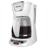 Black and Decker - 12 Cup Programmable Coffeemaker - DCM100WC