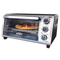 Black and Decker - 4 Slice Toaster Oven - TO1303SBC