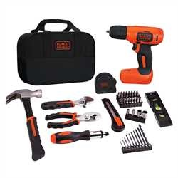 Black and Decker - 8V MAX Cordless Lithium Drill Project Kit - BDCD8PK