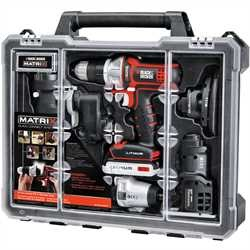 Black and Decker - MATRIX 20V MAX Lithium 6Tool Combo Kit with Storage Case - BDCDMT1206KITC