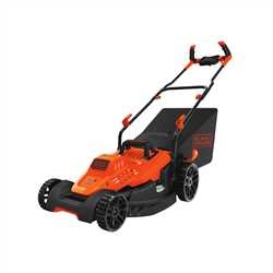 Black and Decker - 12 Amp 17 in Electric Lawn Mower with Comfort Grip Handle - BEMW482BH