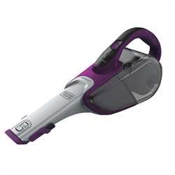 Black and Decker - dustbuster Hand Vacuum Eggplant Purple  Base Charger with Scent with SMARTECH - HHVJ320BMFS27