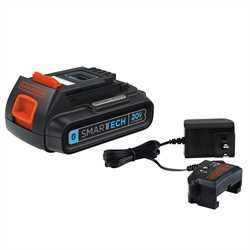 Black and Decker - 20V MAX Lithium Ion SMARTECH  Battery  Charger - LBXR20BTK