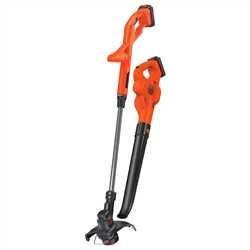 Black and Decker - 20V MAX Lithium 10 In String TrimmerEdger Hard Surface Sweeper  2 Battery Combo Kit - LCC222