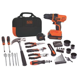 Black and Decker - 20V MAX Lithium Ion DrillDriver  68 Piece Project Kit - LDX120PK