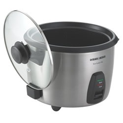 Black and Decker - 20Cup Stainless Steel Rice Cooker - RC866C