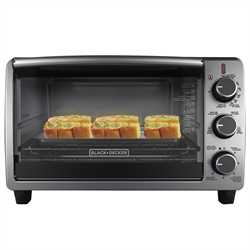 Black and Decker - Black  Decker Black Convection Oven 6Slice or 9inch Pizza - TO1950SBD
