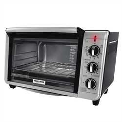 Black and Decker - 6Slice Convection Countertop Toaster Oven - TO3230SBD
