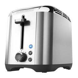 Black and Decker - 2Slice Toaster Rapid Toast Stainless Steel TR3500SD - TR3500SD