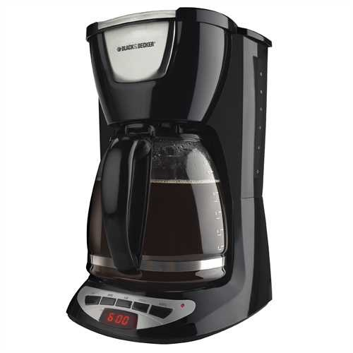 Black and Decker - 12 Cup Programmable Coffeemaker - DCM100BC