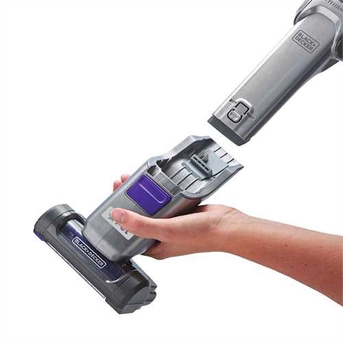 Black and Decker - dustbuster Hand Vacuum Pet with SMARTECH  Base Charger - HHVJ325BMP07