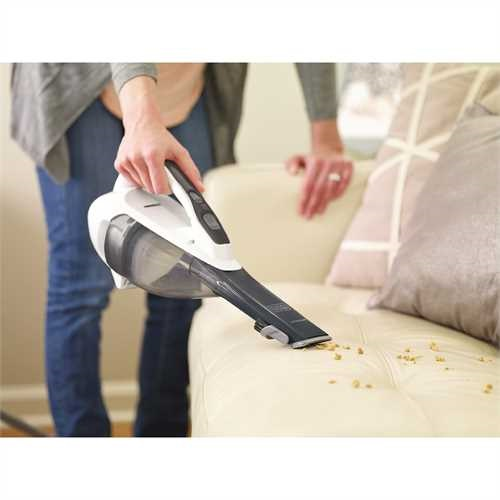 Black and Decker - dustbuster Hand Vacuum Powder White - HLVA325J10