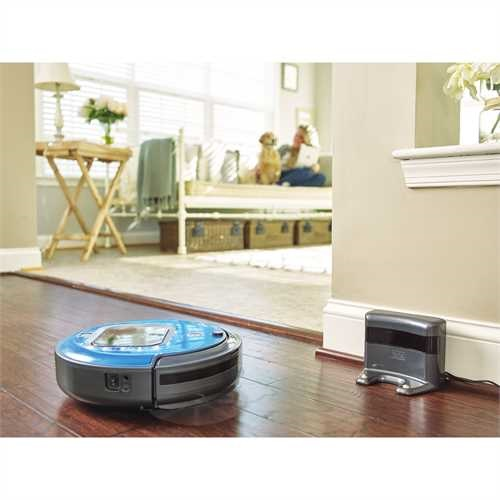 Black and Decker - Lithium Robotic Vacuum with LED and SMARTECH - HRV425BL
