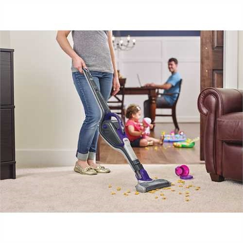 Black and Decker - PET 2IN1 Cordless Lithium Stick Vacuum with SMARTECH - HSVJ415JMPA07