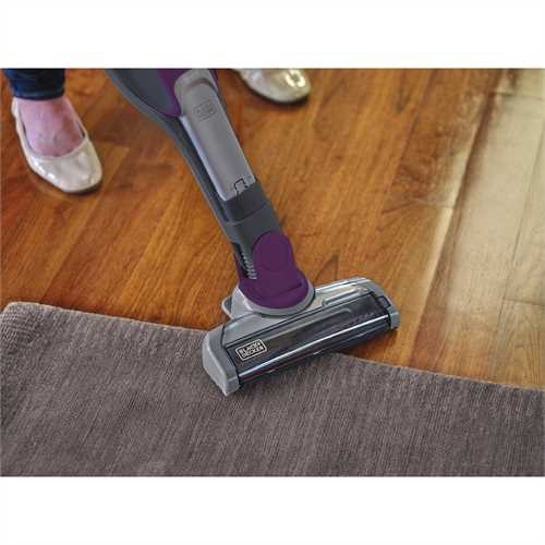 Black and Decker - 2IN1 Cordless Lithium Ion Stick  Hand Vacuum Eggplant Purple - HSVJ520JMBF27