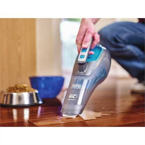 Black and Decker - dustbuster Hand Vacuum WetDry Titanium and Aqua - HWVI225J21