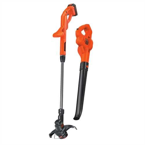 Black and Decker - 20V MAX Lithium 10 In String TrimmerEdger  Hard Surface Sweeper Combo Kit - LCC221