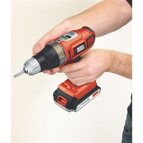 Black and Decker - 20V MAX Lithium DrillDriver with Smart Select Technology - SSL20SB