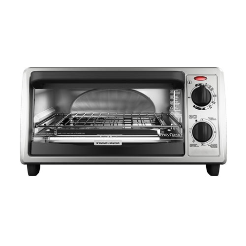 Black and Decker - 4Slice Countertop Convection Toaster Oven - TO1322SBD
