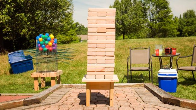 DIY Tumbling Blocks Game