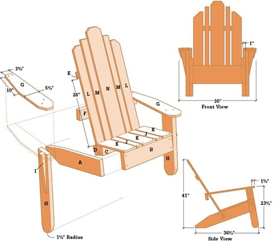 Build an Adirondack Chair (with plans) | DIY | BLACK ...