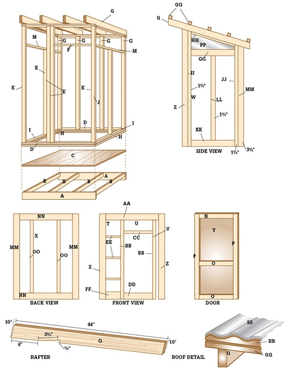 Small storage buildings shed plans black and decker for 12x10 deck plans