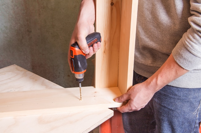 Drill Holes for Adjustable Shelves